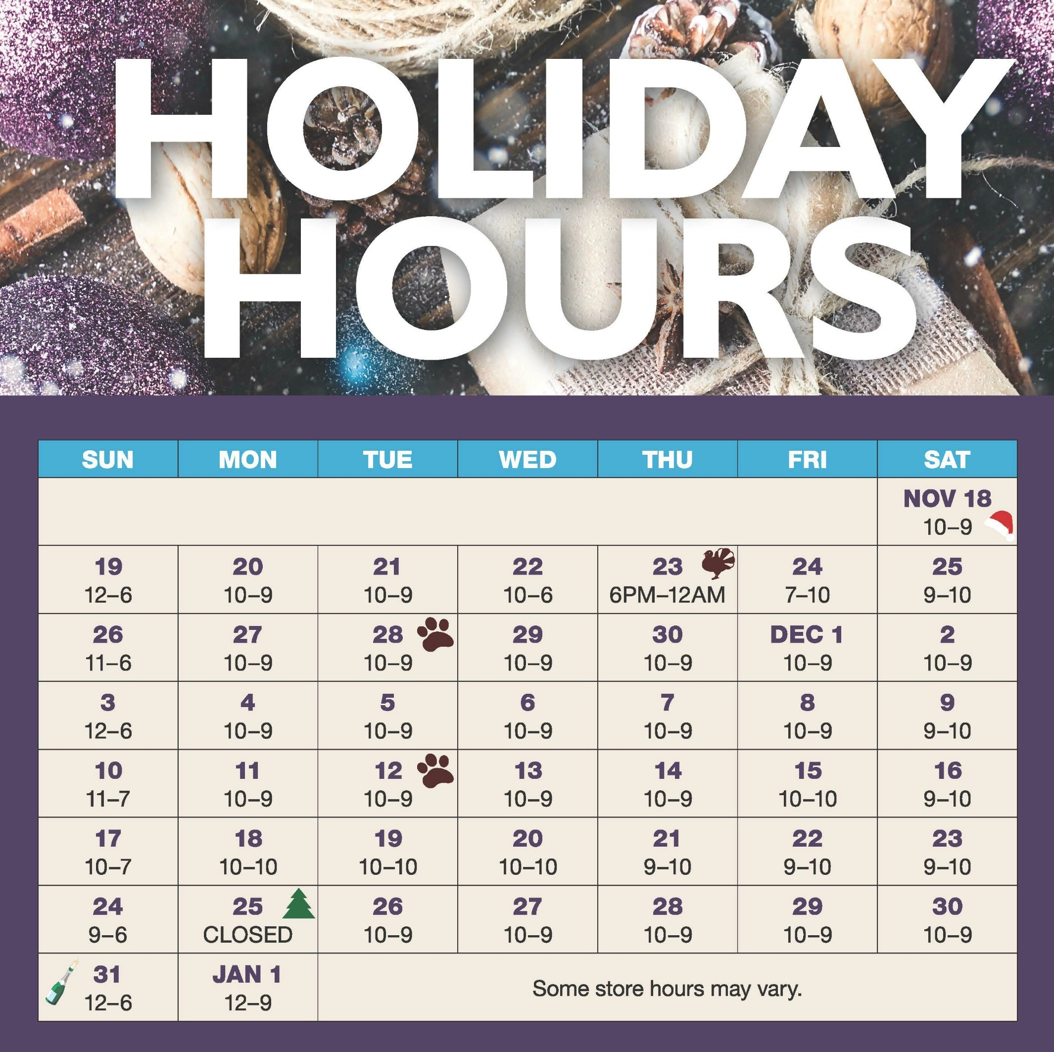 Extended Holiday Shopping Hours