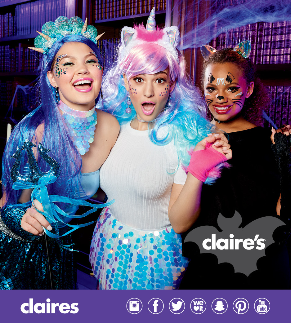 claire's halloween costumes - golden triangle mall