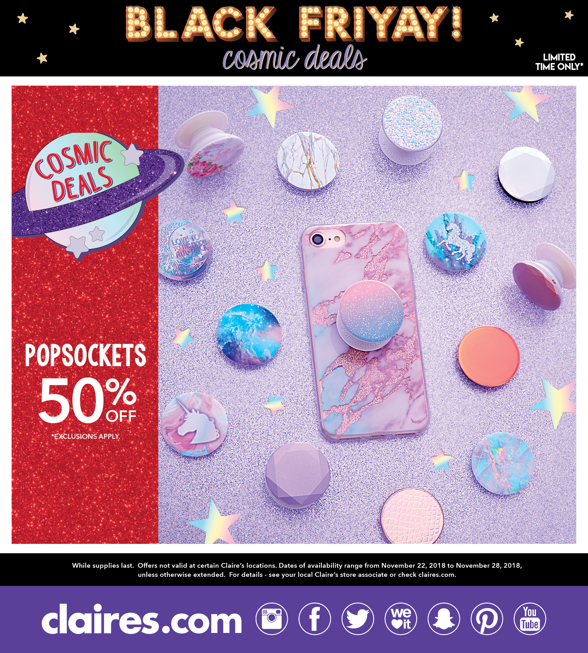 Claire's Cosmic Deals