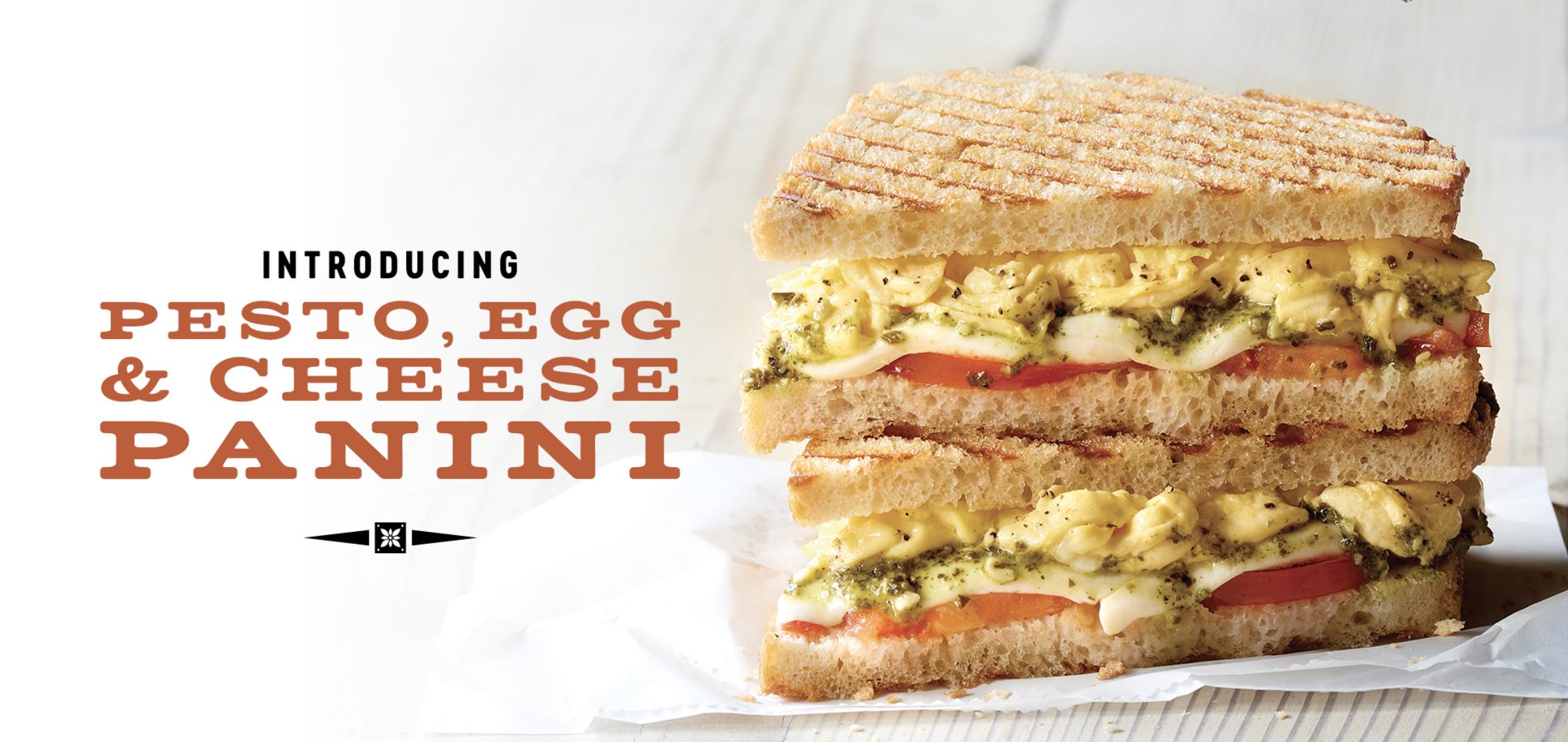 New — Pesto, Egg & Cheese Panini