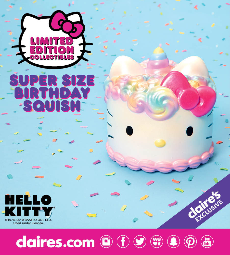 Hello Kitty Super Size Birthday Squish