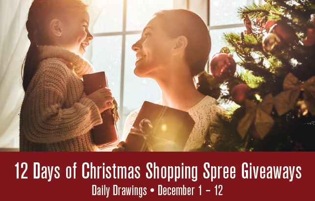 12 Days of Christmas Shopping Spree Giveaway