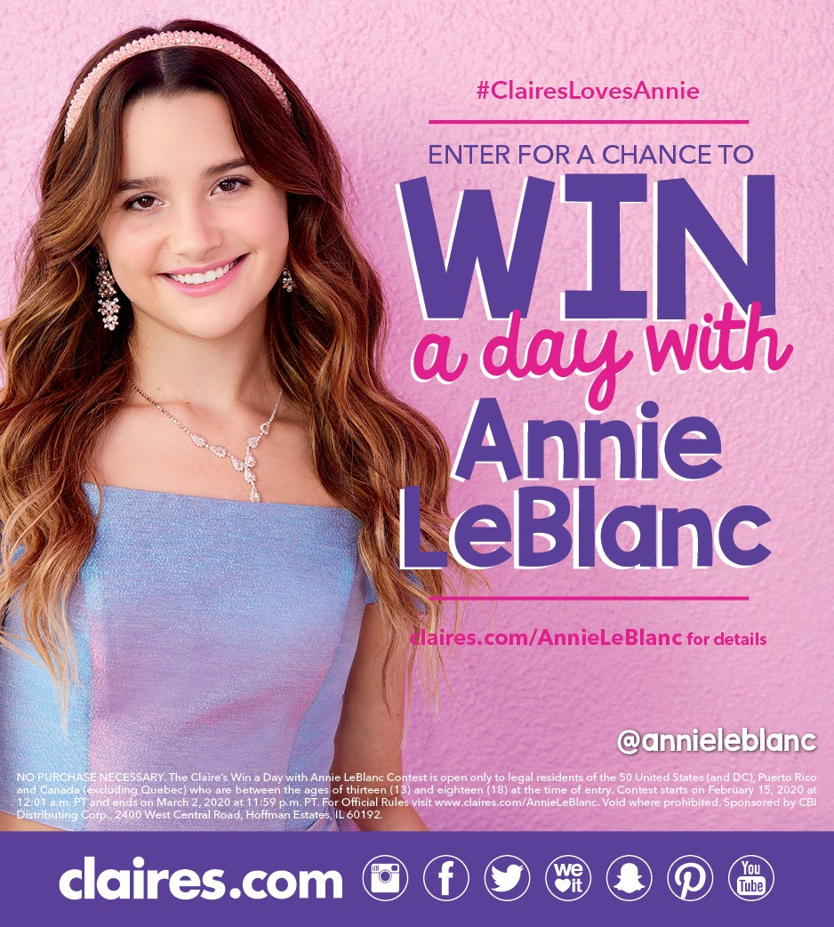 Win a Day with Annie LeBlanc!