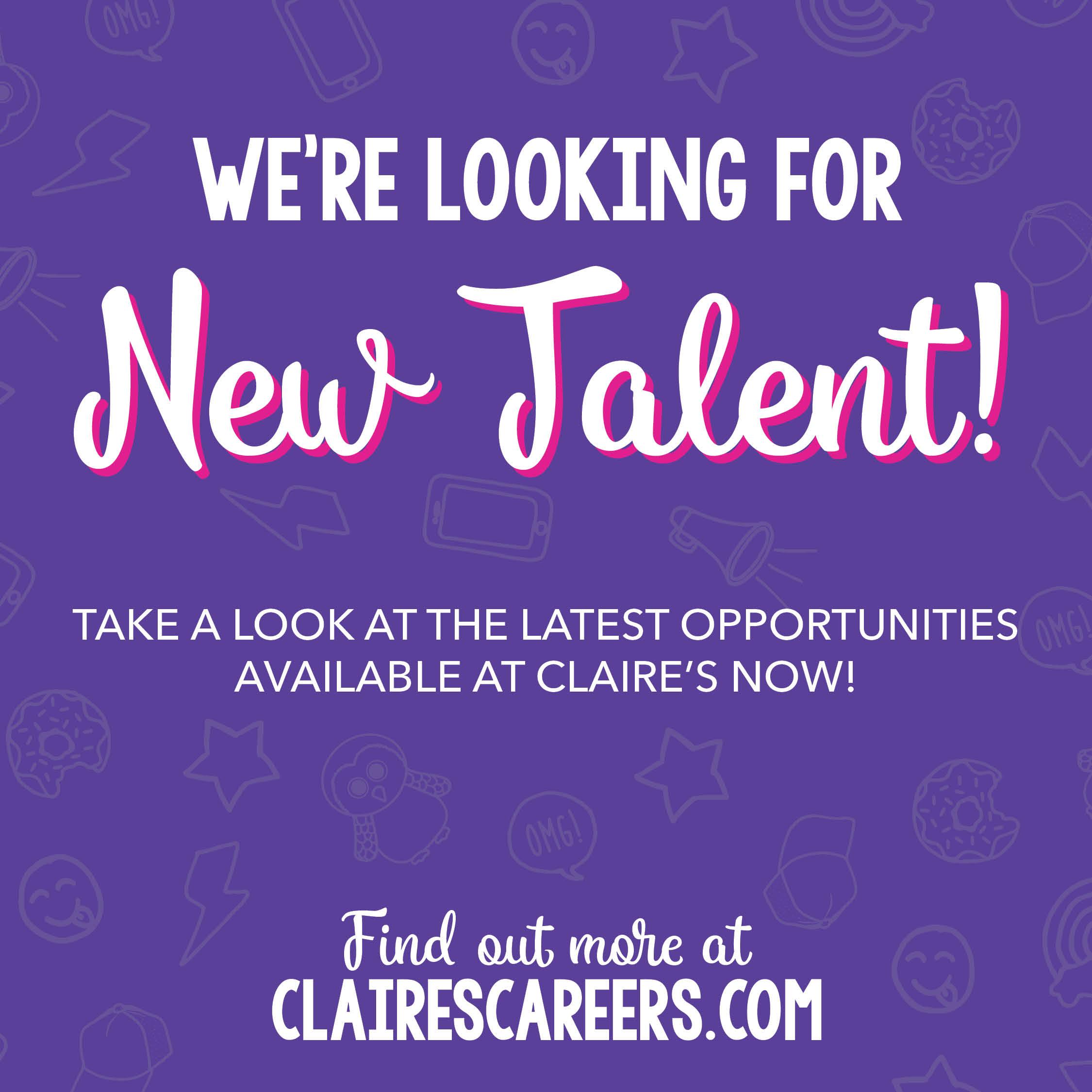 Claire's Jobs