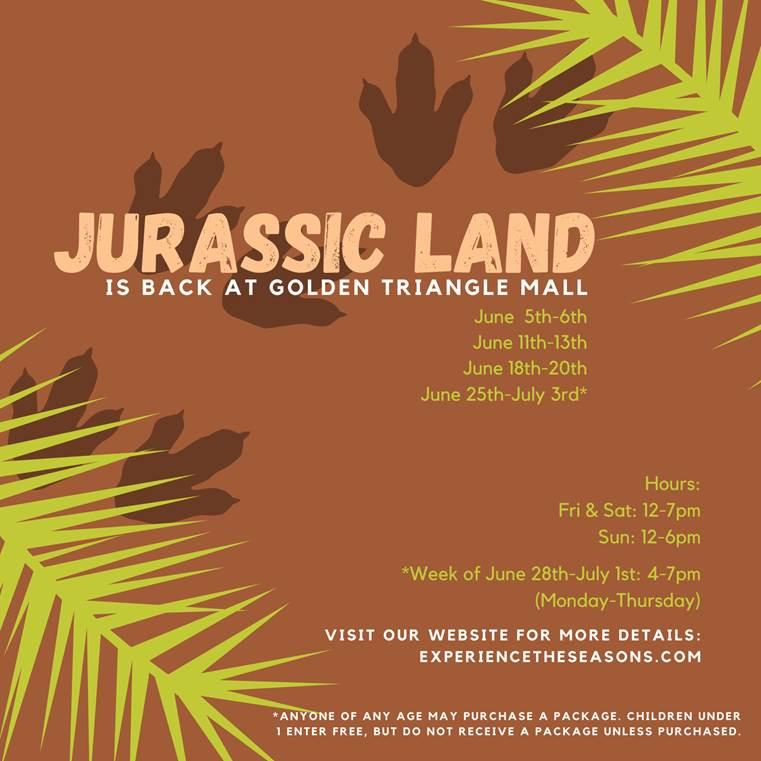 Jurassic Land Now Open